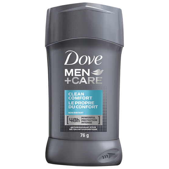 Dove Men +Care Clean Comfort Non Irritant Anti-Perspirant Stick - 76g