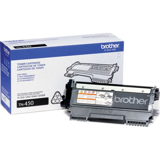 Brother High Yield Toner Cartridge - Black - TN450