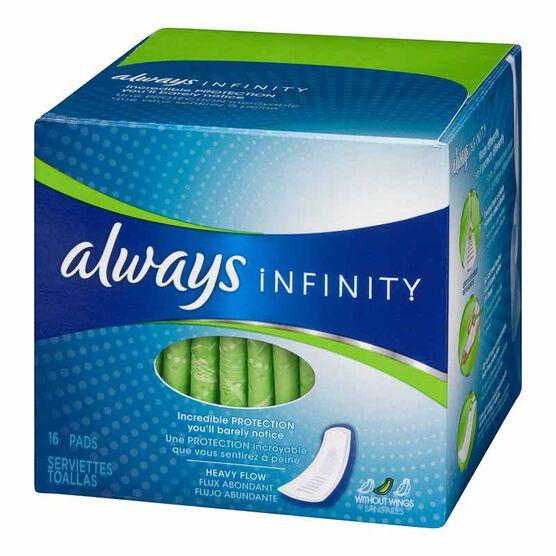 Always Infinity Pads - Regular - 18's