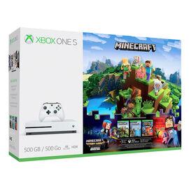 Xbox One S 500GB Console Minecraft Complete Adventure Bundle - ZQ9-00288