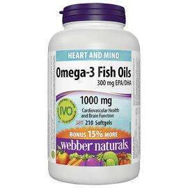 Webber Naturals Omega-3 - 300mg EPA/DHA - 180's