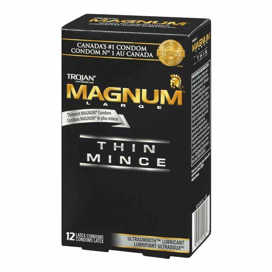 Trojan Magnum Thin Condom - 12's