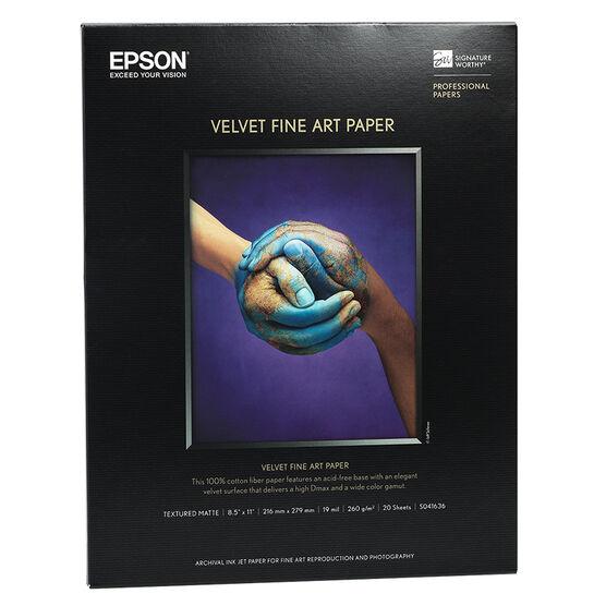 Epson Velvet Fine Art Paper - 8.5 x 11 - 20 Sheets