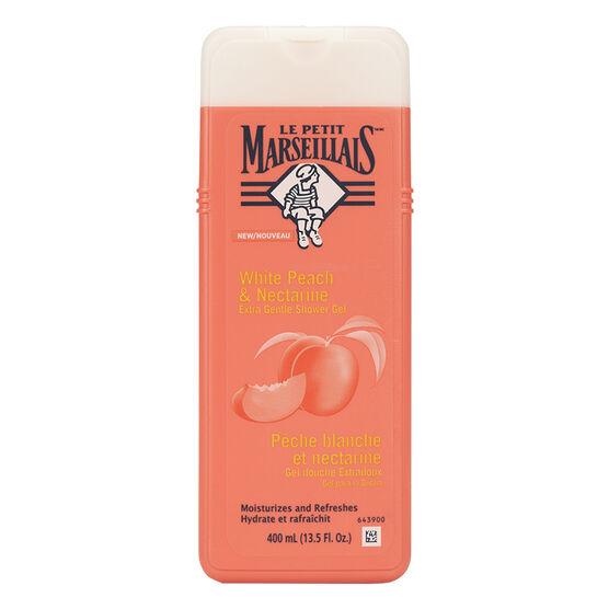 Le Petit Marseilials Shower Gel - White Peach & Nectarine - 400ml