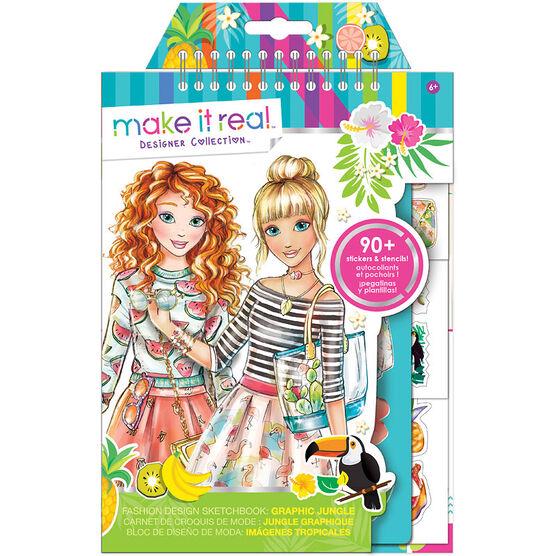 Make It Real Fashion Design Sketchbook - Graphic Jungle