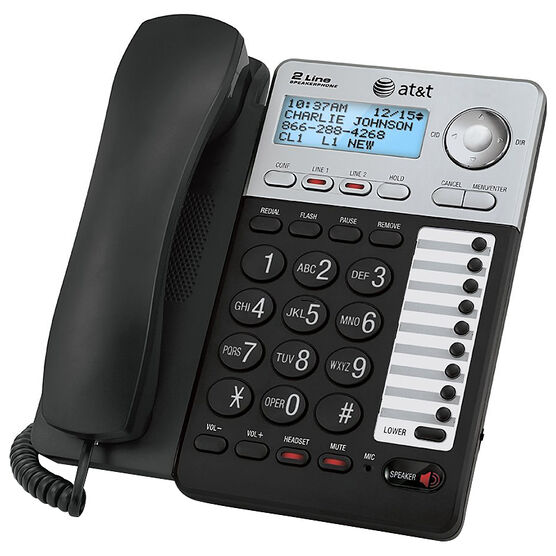 AT&T 2-Line Corded Office Phone - Black - ML17929