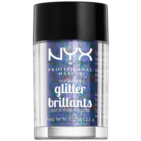 NYX Professional Makeup Face and Body Glitter - Violet