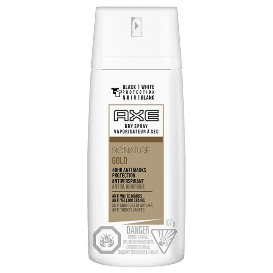 Axe Dry Spray Signature Gold Antiperspirant - 107g