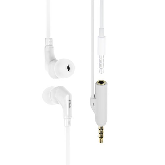 Logiix tuneFREQS Share In-Ear Headphone with Built-In Splitter - White - LGX12013