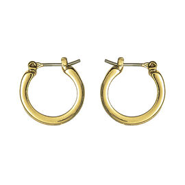 Anne Klein Small Pave Hoop Earrings - Gold