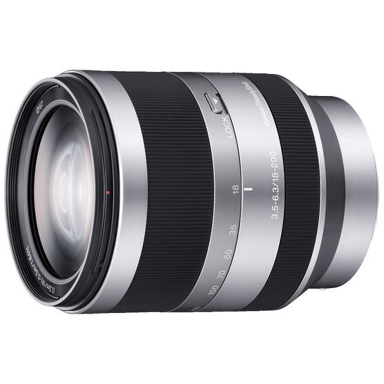 Sony E-mount 18-200 F3.5-6.3 OSS Lens - Silver - SEL18200