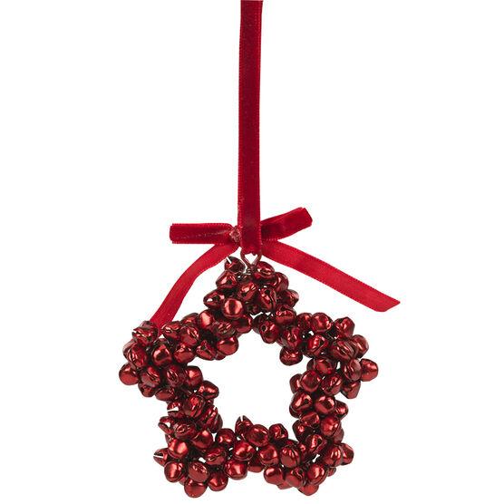 Christmas Tartan Metal Bell Ornament - Assorted - 3.5in