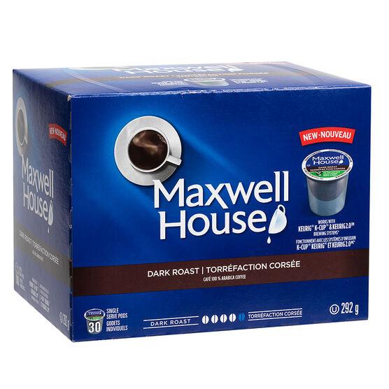 Maxwell House Coffee - Dark Roast - 30 Servings