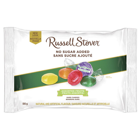 Russell Stover No Sugar Added Hard Candies - Assorted Fruits - 510g