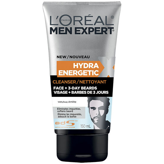 L'Oreal Men Expert Face & 3-Day Beards Hydra Energetic Cleanser - 150ml