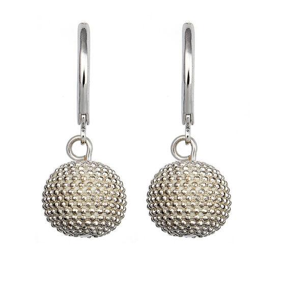 Anne Klein Pendant Pave Drop Earrings - Silver