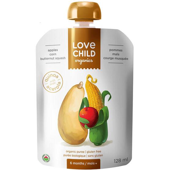 Love Child Apples Corn Butternut Squash - 128ml
