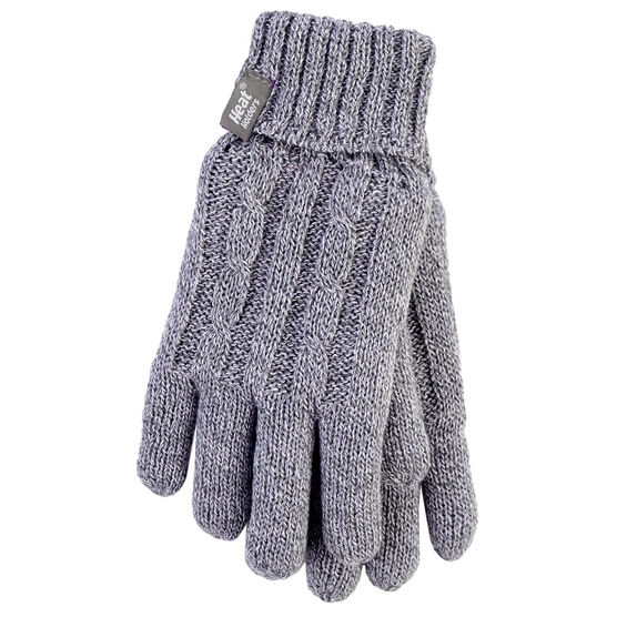 Heat Holders Ladies Knit Gloves - Grey - Small
