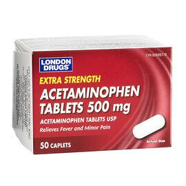 London Drugs Acetaminophen Caplets- 500mg - 50's
