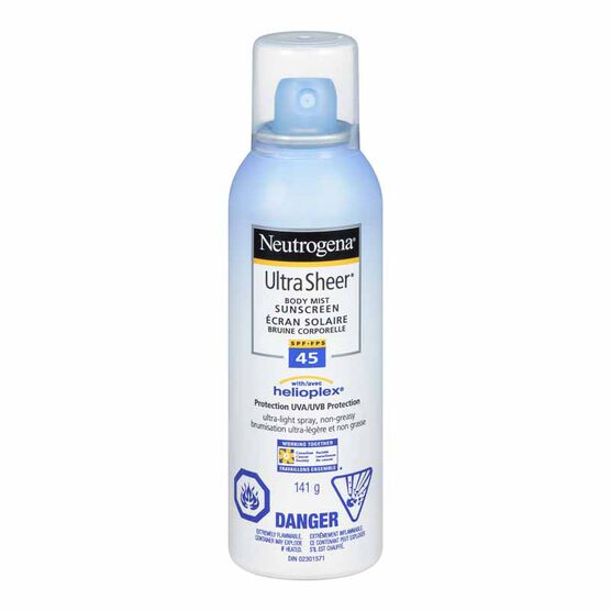 Neutrogena Ultra Sheer Sunscreen Spray - SPF 45 - 141g