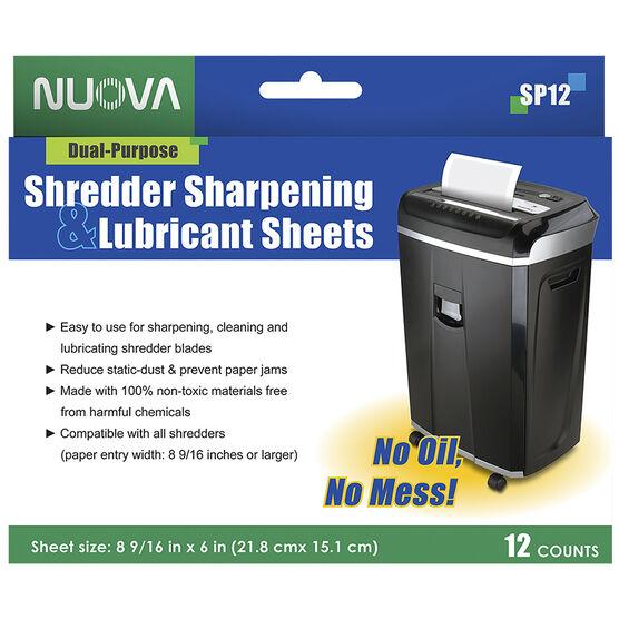 Nuova Shredder Sharpening & Lubricant Sheets - 12's - SP-12