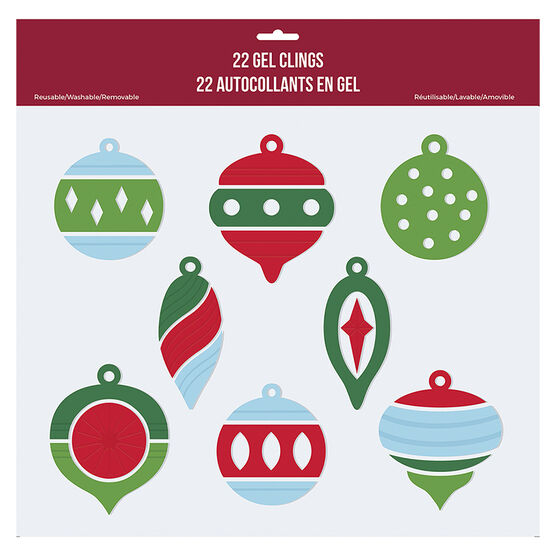 Christmas Gel Clings - Assorted