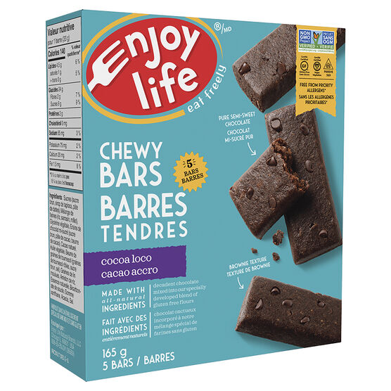 Enjoy Life Baked Chewy Bars - Cocoa Loco - 5 pack
