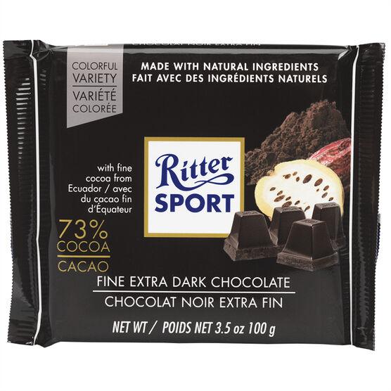 Ritter Sport - Fine Extra Dark Chocolate - 100g