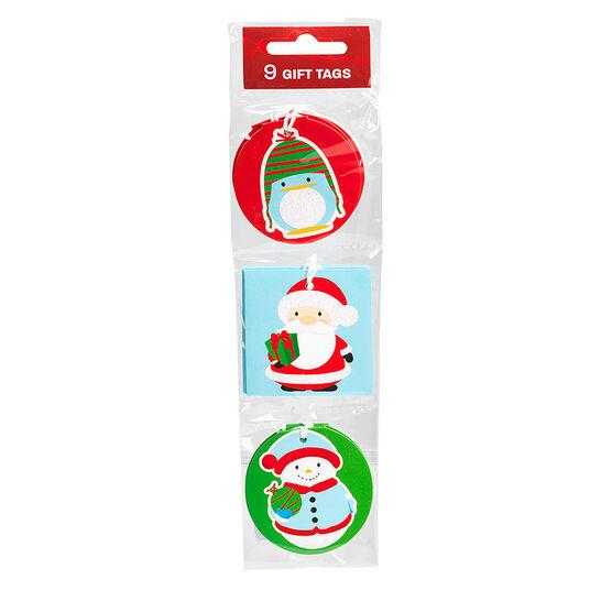 Christmas Pocket Tags - 9's - Assorted