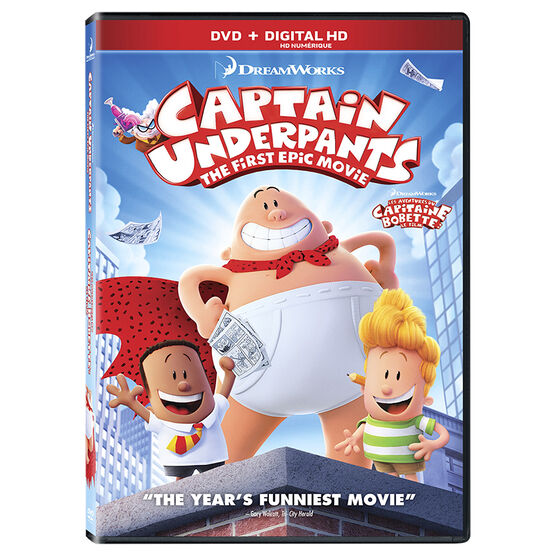 Captain Underpants: The First Epic Movie - DVD