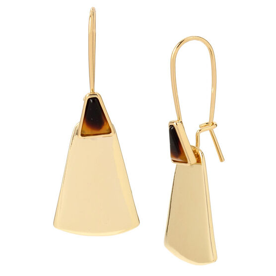 Robert Lee Morris Shepherd Hook Earrings - Tort/Gold