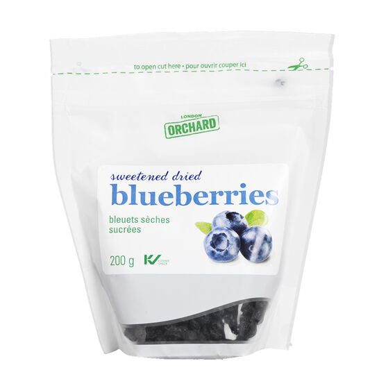 London Orchard Blueberries - Sweetened Dried - 200g
