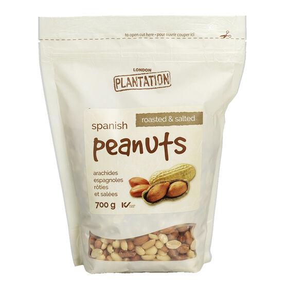 London Plantation Peanuts - Roasted & Salted - 700g