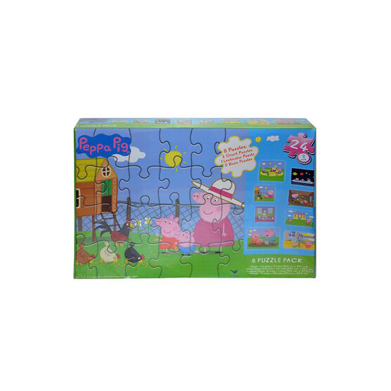 Peppa Pig Puzzles - 8 pack