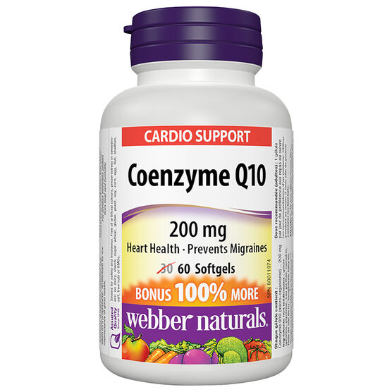 Webber Naturals Coenzyme Q10 - 200mg - 60's