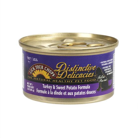 Destinctive Delicacies Cat Food - Turkey & Sweet Potato - 3oz