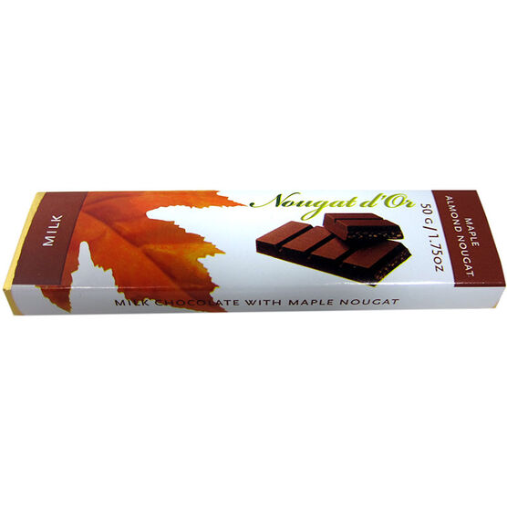 Golden Bonbon Milk Chocolate Bar with Crunchy Maple Nougat - 50g