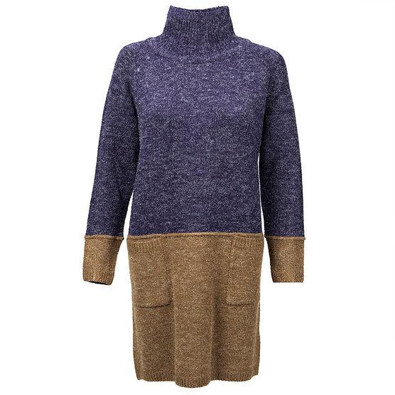 Valenti Ladies Knit Tunic - Navy - S-XL