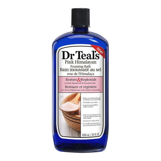 Dr Teal's Pink Himalayan Foaming Bath - Restore & Replenish - 1000ml
