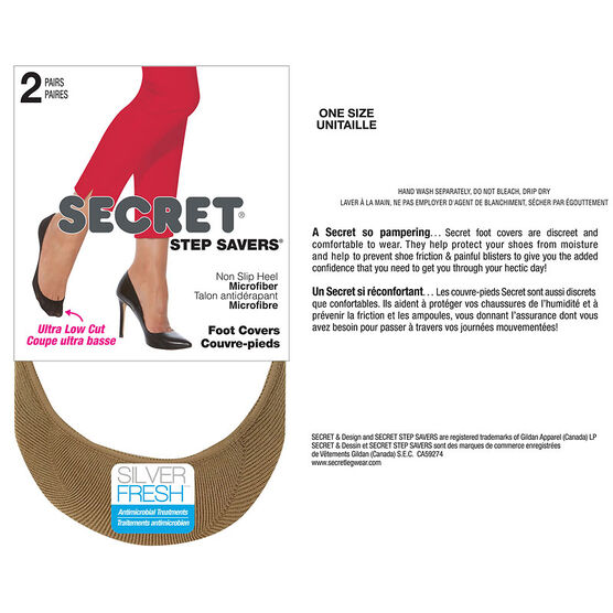 Secret Foot Cover Extreme Low Cut - Nude - 2 pair