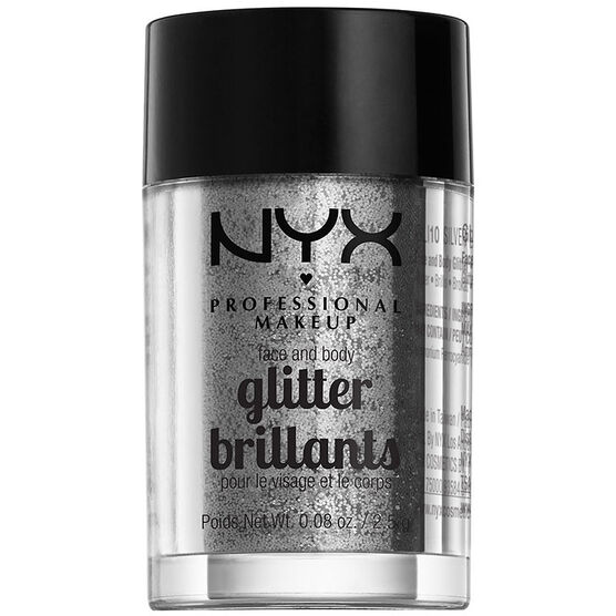 NYX Professional Makeup Face and Body Glitter - Silver