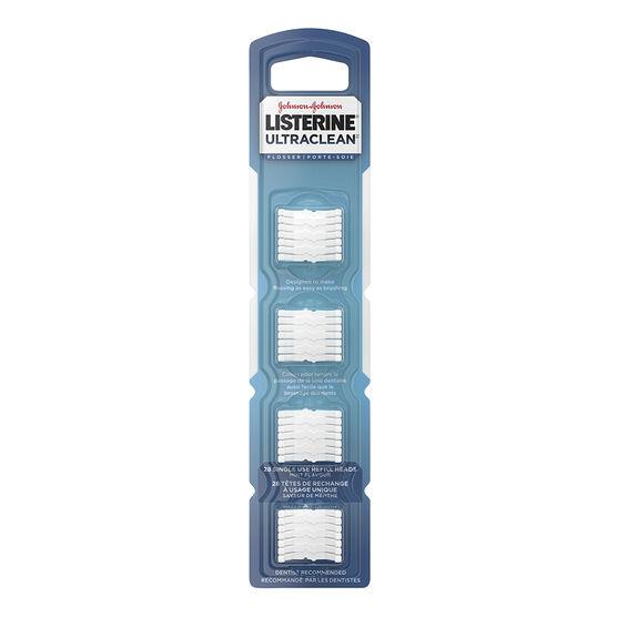 Listerine UltraClean Flosser refill Heads - 28's