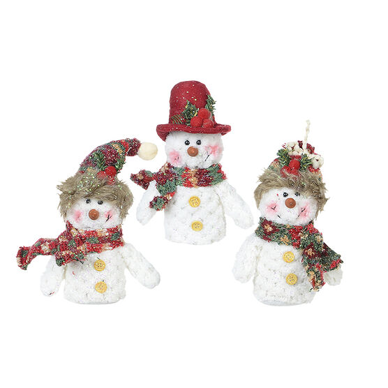 Winter Wishes Hanging Snowman - 8in - Assorted