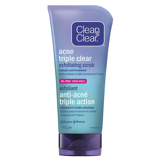 Clean & Clear Acne Triple Clear Exfoliating Scrub - 141g