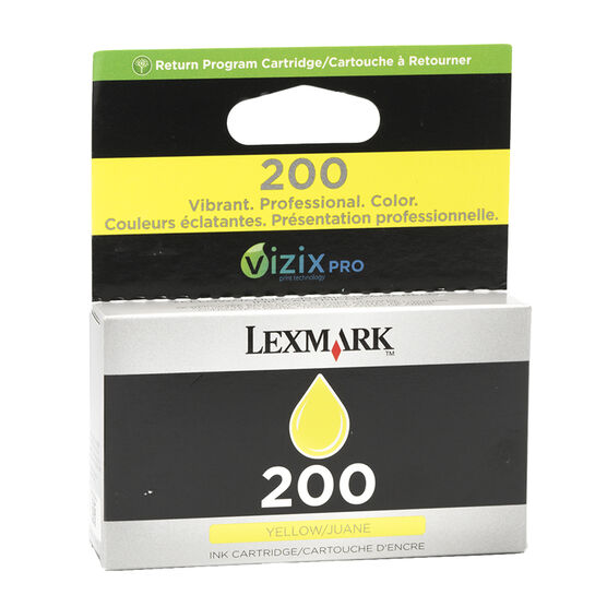 Lexmark 200 Ink Cartridge- Yellow - 14L0649