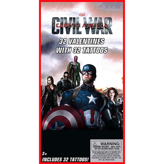 Captain America Tattoo Valentines - 32s - 4153495