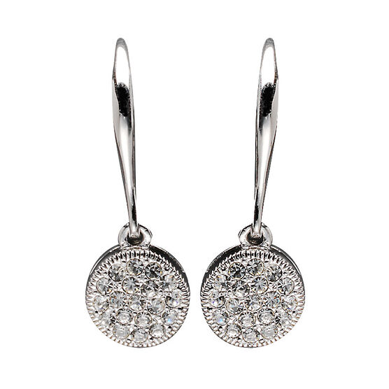 Eliot Danori Costume Earrings - Circle Pavé
