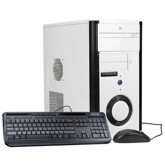 Certified Data Intel Core i5-7400 Desktop Computer - GTX 1050