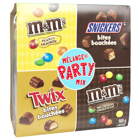 M&M's, Twix, Snickers Party Mix - 900g