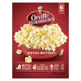 Orville Microwave Popcorn - Extra Buttery - 6 pack